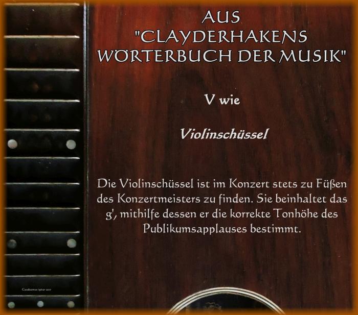 Violinschüssel klein